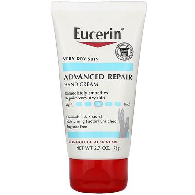 Eucerin Крем для рук для продвинутого восстановления, без запаха, 2,7 унции (78 г)