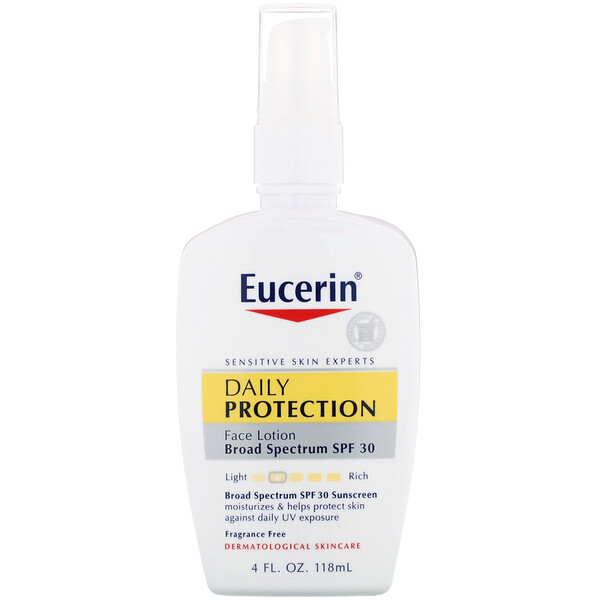 Daily Protection Moisturizing Face Lotion, Sunscreen SPF 30, Fragrance Free, 4 fl oz (118 ml)