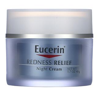 Eucerin, Redness Relief, Dermatological Skincare, Night Creme, 1.7 oz (48 g)