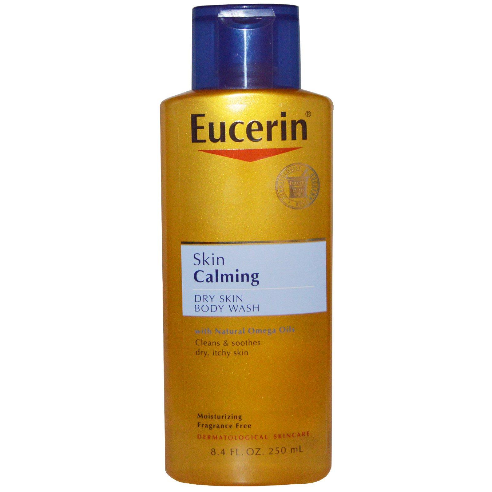 Eucerin, Успокаивающий уход для сухой кожи, без отдушек, 250 мл (8,4 жидких унций)