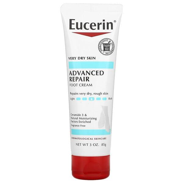 Eucerin, Advanced Repair Foot Creme, Fragrance Free, 3 oz (85 g)