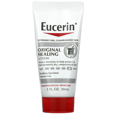 Eucerin Original Healing Lotion, Fragrance Free, 1 fl oz (30 ml)
