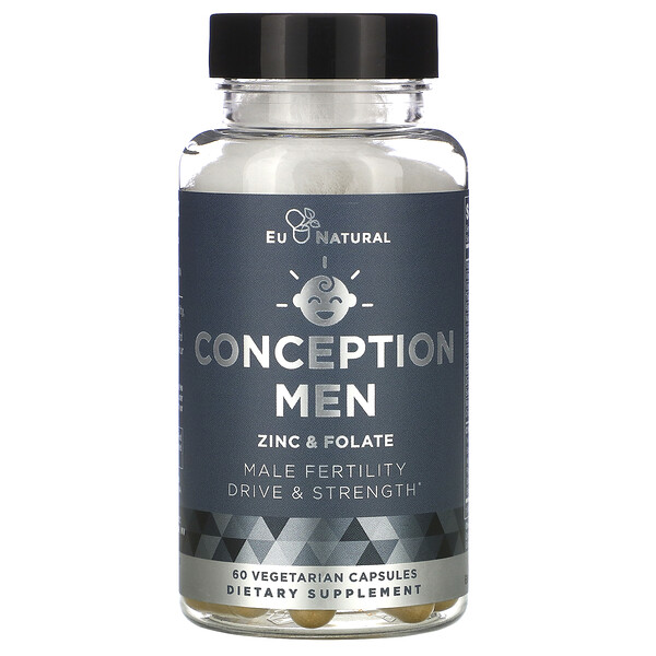 CONCEPTION MEN, Zinc & Folate, 60 Vegetarian Capsules