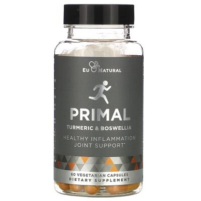 Купить Eu Natural PRIMAL, Turmeric & Boswellia, 60 Vegetarian Capsules