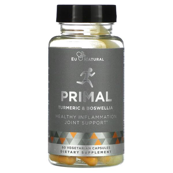 Eu Natural, PRIMAL, Turmeric & Boswellia, 60 Vegetarian Capsules