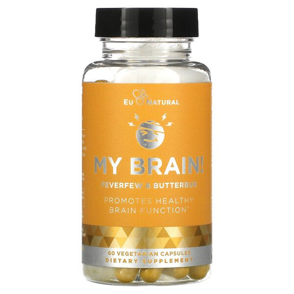 Eu Natural, My Brain!, Feverfew & Butterbur, 60 Vegetarian Capsules