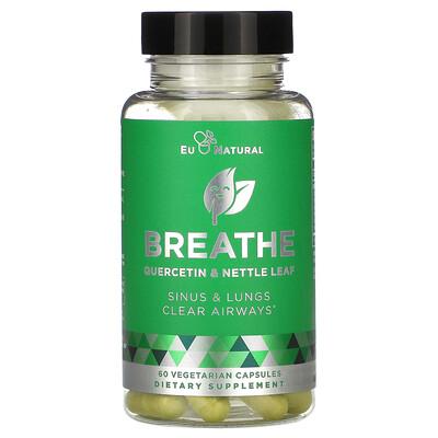 Купить Eu Natural BREATHE, Sinus & Lungs Respiratory Health, 60 Vegetarian Capsules