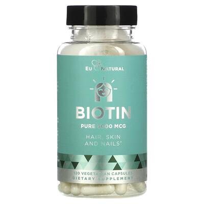 Купить Eu Natural Biotin, 5, 000 mcg, 120 Vegetarian Capsules