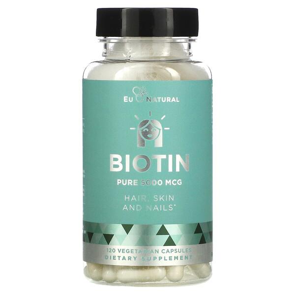 Biotin, 5,000 mcg, 120 Vegetarian Capsules