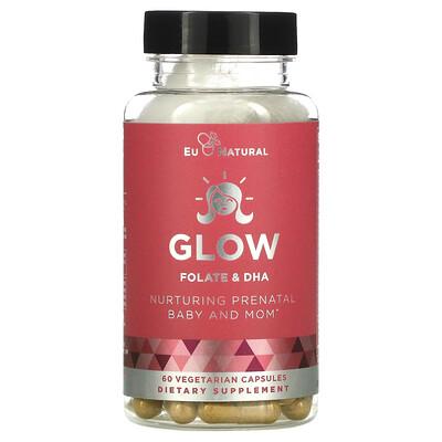 Купить Eu Natural Glow, Folate & DHA, 60 Vegetarian Capsules