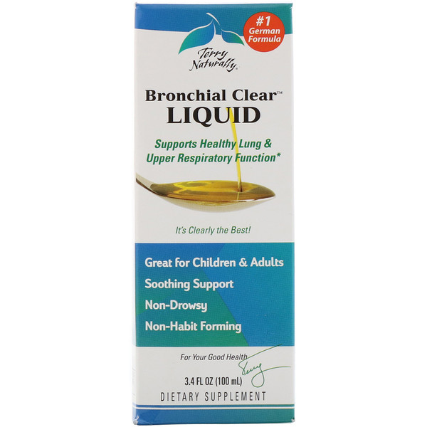 EuroPharma, Terry Naturally, Bronchial Clear Liquid, 3.4 fl oz (100 ml)