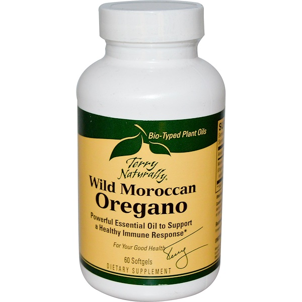 EuroPharma, Terry Naturally, Terry Naturally, Wild Moroccan Oregano, 60 Softgels (Discontinued Item)