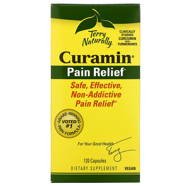 Terry Naturally, Curamin, Pain Relief, 120 Capsules
