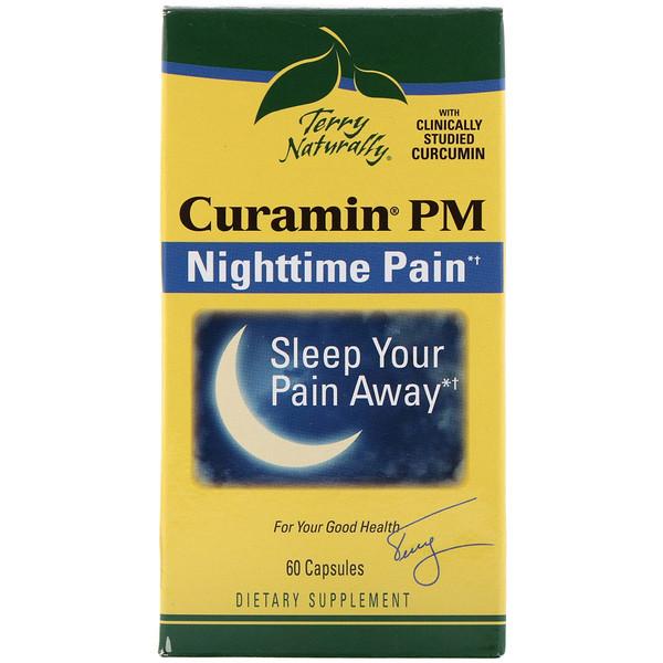 EuroPharma, Terry Naturally, Курамин ПМ, ночная боль, 60 капсул (Discontinued Item)