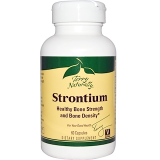 EuroPharma, Terry Naturally, Strontium, 60 Capsules
