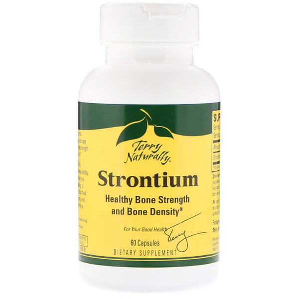 Terry Naturally, Strontium, 60 gélules (Discontinued Item)