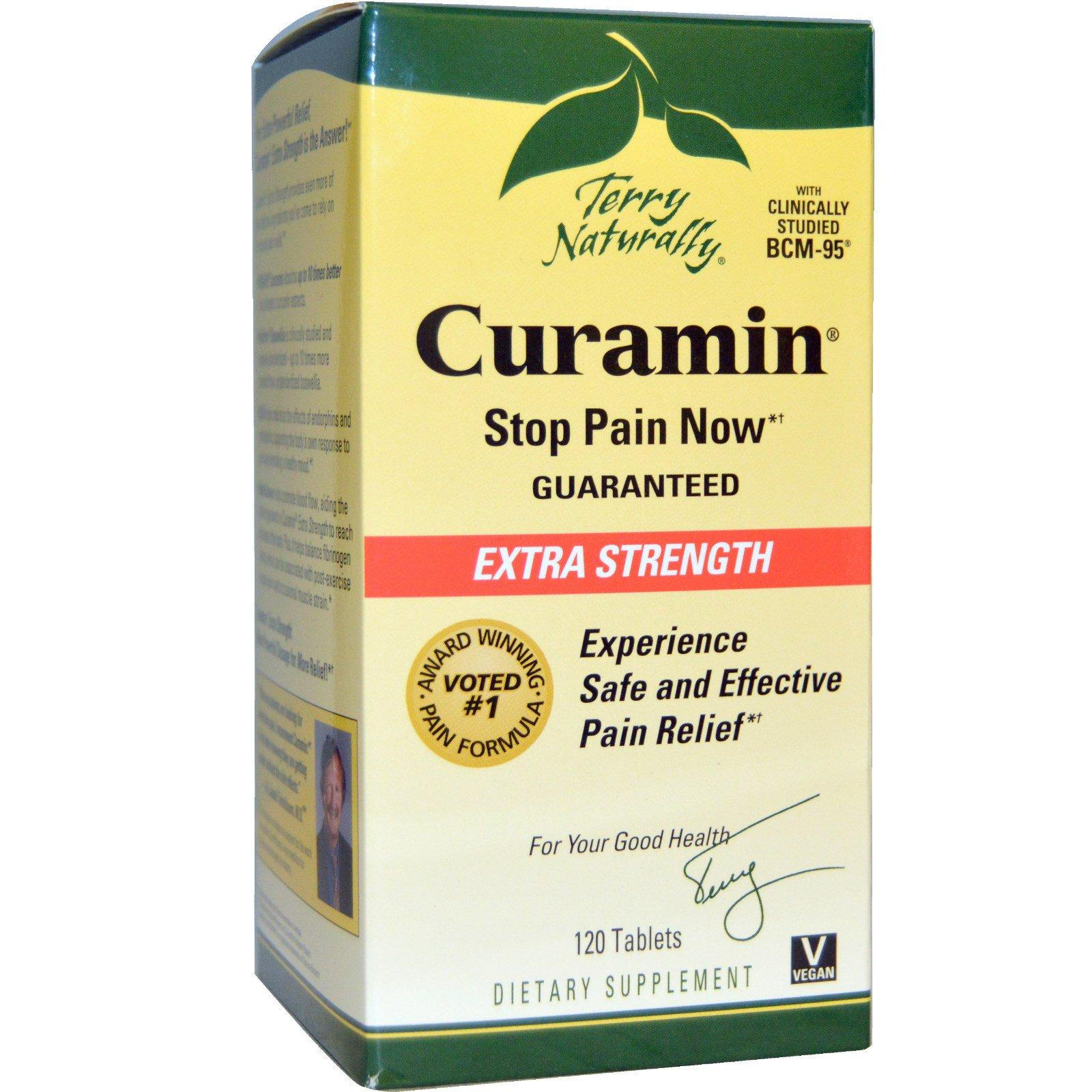 EuroPharma, Terry Naturally, Curamin, экстра сила, 120 таблеток