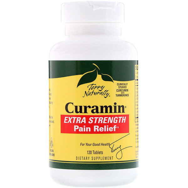 Curamin, Extra Strength, analgésique, 120 Comprimés