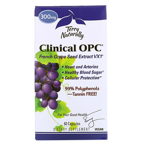 Terry Naturally, Clinical OPC, 300 mg, 60 Capsules отзывы покупателей