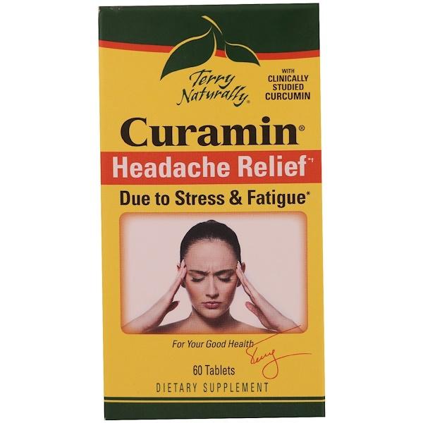 EuroPharma, Terry Naturally, Курамин, средство от головной боли, 60 таблеток (Discontinued Item)