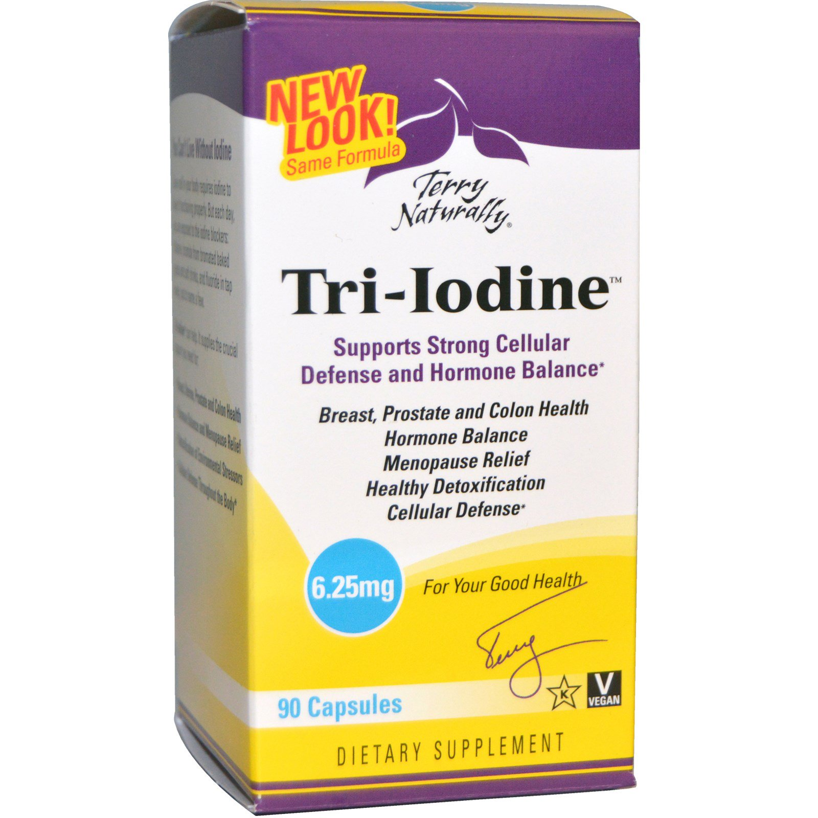 EuroPharma, Terry Naturally, Terry Naturally, Tri-Iodine, 6,25 мг, 90 капсул
