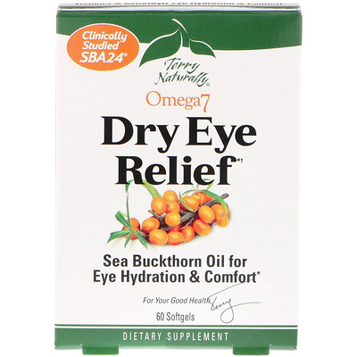 EuroPharma, Terry Naturally Omega 7 Dry Eye Relief, 60 Softgels