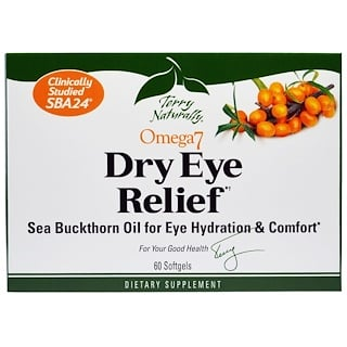 EuroPharma, Terry Naturally, Omega 7 Dry Eye Relief, 60 Softgels