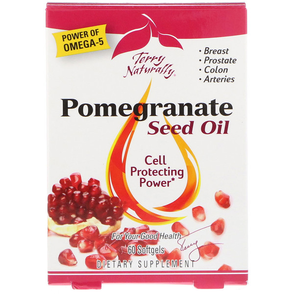 EuroPharma, Terry Naturally, Pomegranate Seed Oil, 60 Softgels