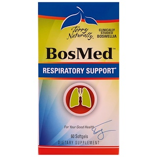 EuroPharma, Terry Naturally, Bosmed, Respiratory Support, 60 Softgels
