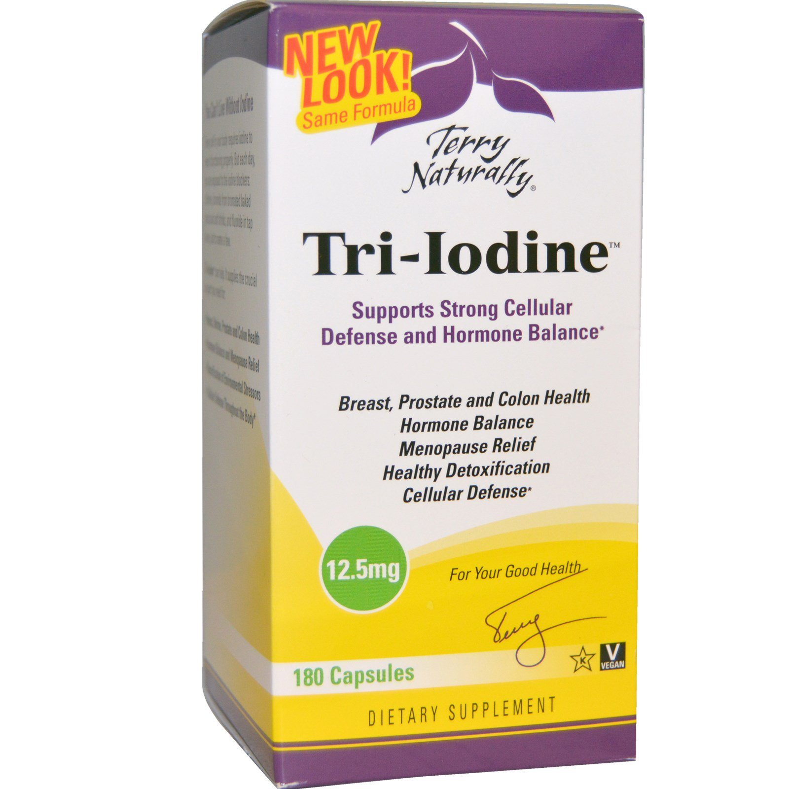 EuroPharma, Terry Naturally, Terry Naturally, Tri-Iodine, 12,5 мг, 180 капсул
