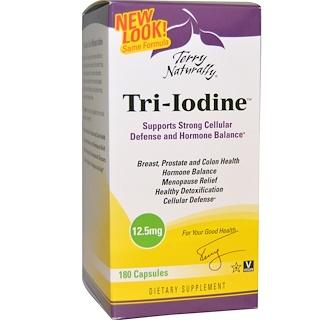 EuroPharma, Terry Naturally, Tri-Iodine, 12.5 mg, 180 Capsules