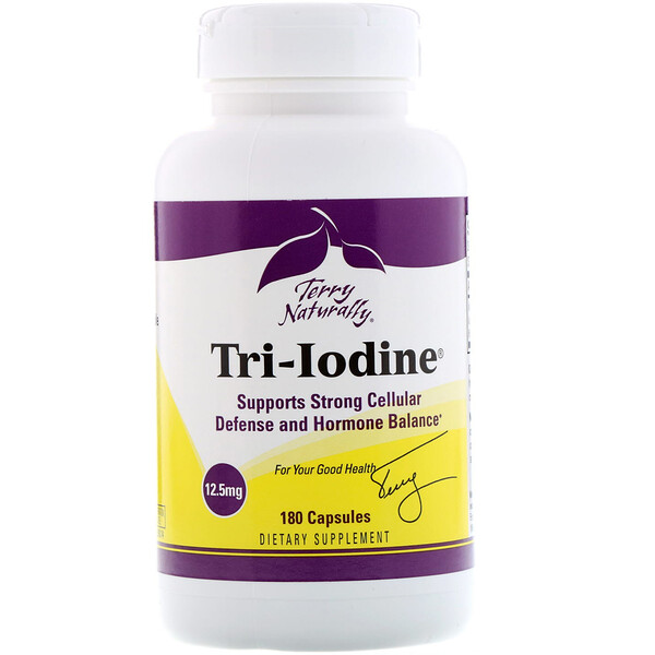 Terry Naturally, Tri-Iodine, 12.5 mg, 180 Capsules