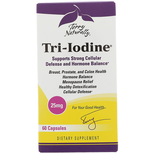 EuroPharma, Terry Naturally, 三碘 (Tri-Iodine) 膠囊,25 毫克,60 粒
