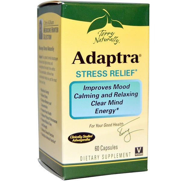 EuroPharma, Terry Naturally, Terry Naturally, Adaptra, 60 капсул (Discontinued Item)