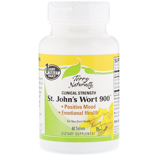 EuroPharma, Terry Naturally, St. John's Wort 900, 60 Tablets