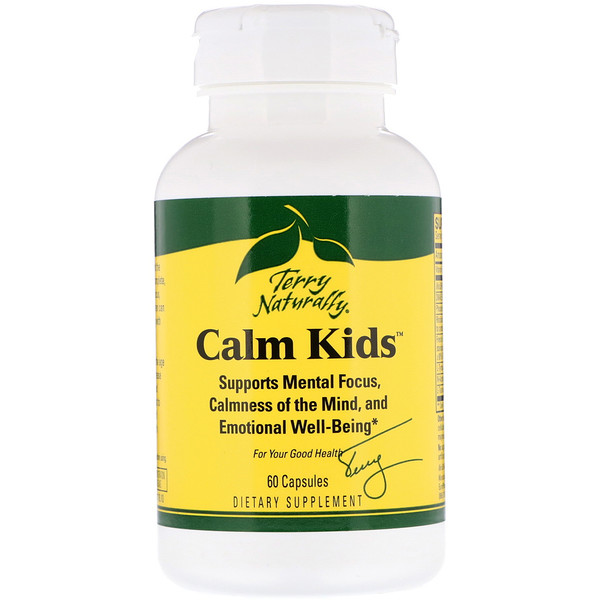 EuroPharma, Terry Naturally, Calm Kids, 60 Capsules