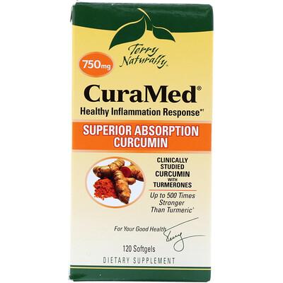 CuraMed, 750 мг, 120 мягких таблеток  - купить со скидкой