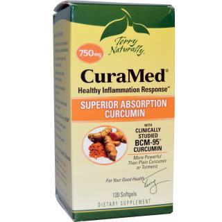 EuroPharma, Terry Naturally, CuraMed, 750 mg, 120 Softgels