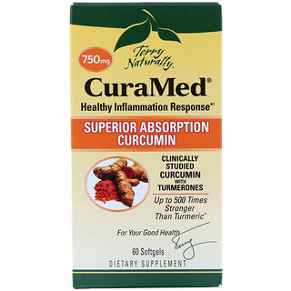 EuroPharma, Terry Naturally, CuraMed, 750 mg, 60 Softgels