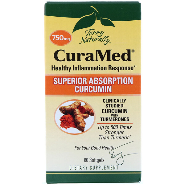 Terry Naturally, CuraMed、750 mg、60ソフトジェル