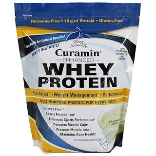 EuroPharma, Terry Naturally, Сывороточный протеин, улучшенный курамином, шелковистая приятная ваниль, 24 унции (680 г)