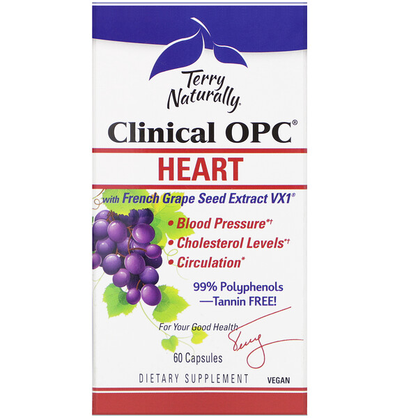 Terry Naturally, Clinical OPC, Heart, 60 Capsules (Discontinued Item)