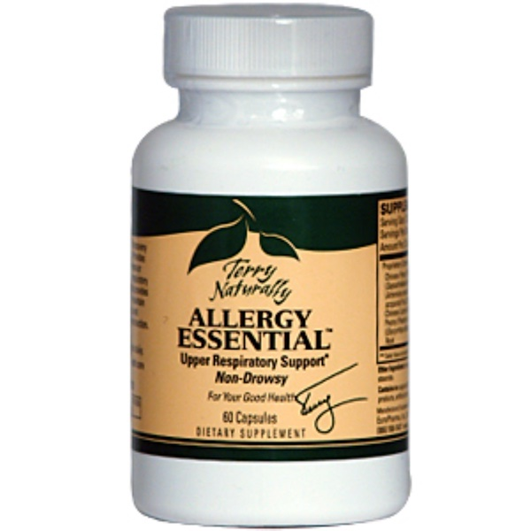 EuroPharma, Terry Naturally, Terry Naturally, Allergy Essential, 60 Capsules (Discontinued Item)