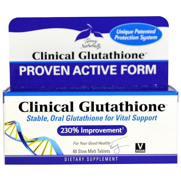 EuroPharma, Terry Naturally, 臨床醫用穀胱甘肽,60慢熔片