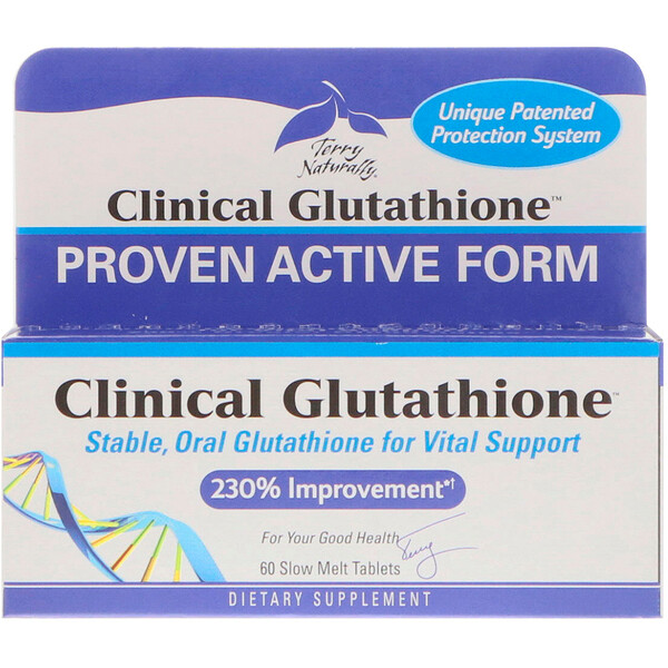 Terry Naturally, Clinical Glutathione, 60 Slow Melt Tablets