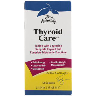 EuroPharma, Terry Naturally, Thyroid Care, 120 Capsules