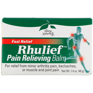EuroPharma, Terry Naturally, Rhulief, Pain Relieving Balm, 1.4 oz (40 g)