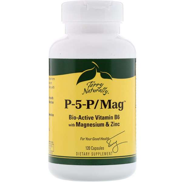 EuroPharma, Terry Naturally, Terry Naturally, P-5-P/Mag, 120 капсул