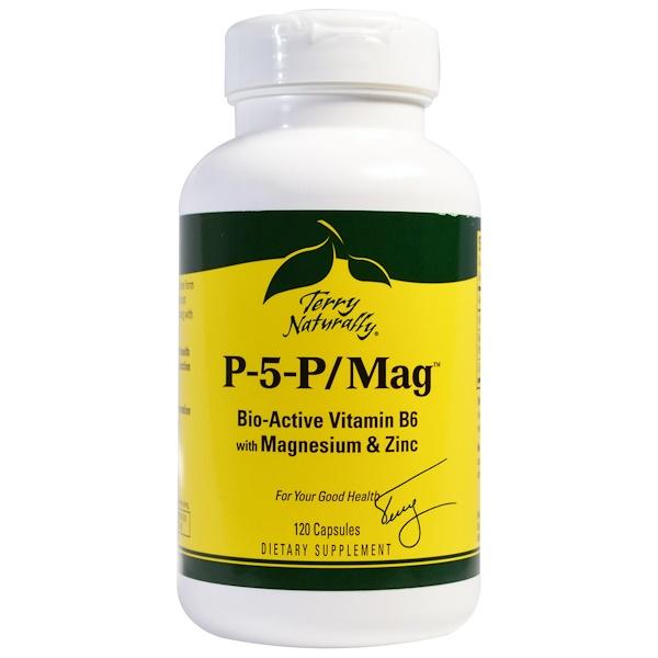 EuroPharma, Terry Naturally, P-5-P/Mag, 120 Capsules
