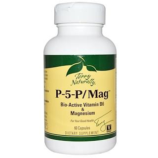 EuroPharma, Terry Naturally, Terry Naturally、P-5-P/Mag、カプセル 60錠